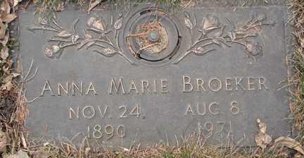 BROEKER, ANNA MARIE - Minnehaha County, South Dakota   ANNA MARIE BROEKER - South Dakota Gravestone Photos
