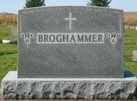BROGHAMMER, FAMILY MARKER - Minnehaha County, South Dakota | FAMILY MARKER BROGHAMMER - South Dakota Gravestone Photos