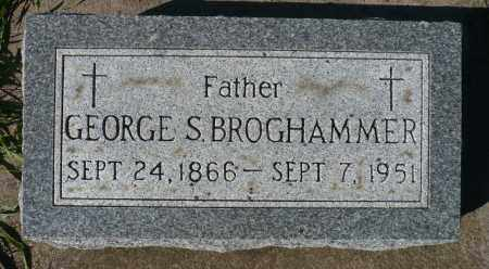 BROGHAMMER, GEORGE S. - Minnehaha County, South Dakota | GEORGE S. BROGHAMMER - South Dakota Gravestone Photos
