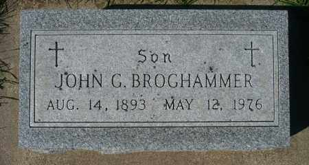 BROGHAMMER, JOHN G. - Minnehaha County, South Dakota | JOHN G. BROGHAMMER - South Dakota Gravestone Photos