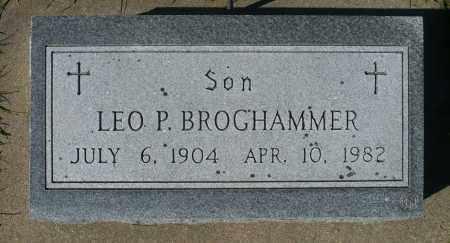 BROGHAMMER, LEO P. - Minnehaha County, South Dakota   LEO P. BROGHAMMER - South Dakota Gravestone Photos