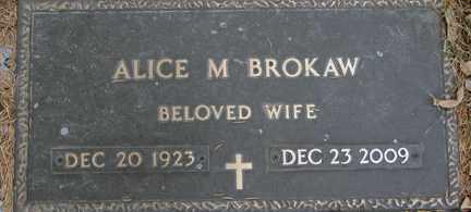 BROKAW, ALICE M. - Minnehaha County, South Dakota | ALICE M. BROKAW - South Dakota Gravestone Photos