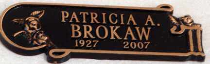 BROKAW, PATRICIA A. - Minnehaha County, South Dakota | PATRICIA A. BROKAW - South Dakota Gravestone Photos