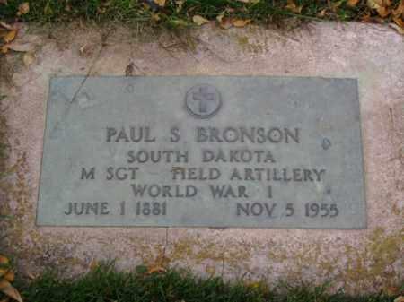 BRONSON, PAUL S. - Minnehaha County, South Dakota | PAUL S. BRONSON - South Dakota Gravestone Photos