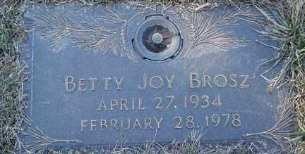 BROSZ, BETTY JOY - Minnehaha County, South Dakota | BETTY JOY BROSZ - South Dakota Gravestone Photos