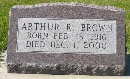BROWN, ARTHUR R. - Minnehaha County, South Dakota   ARTHUR R. BROWN - South Dakota Gravestone Photos