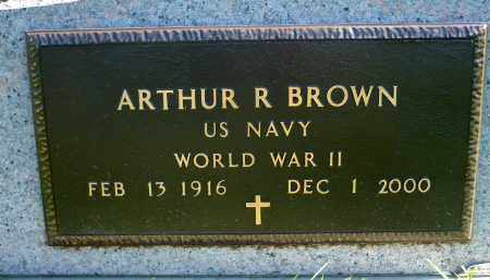 BROWN, ARTHUR R. (WWII) - Minnehaha County, South Dakota | ARTHUR R. (WWII) BROWN - South Dakota Gravestone Photos