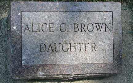 BROWN, ALICE C. - Minnehaha County, South Dakota | ALICE C. BROWN - South Dakota Gravestone Photos