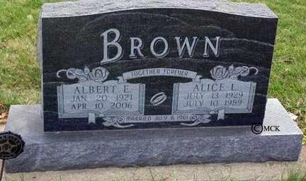 BROWN, ALICE L. - Minnehaha County, South Dakota | ALICE L. BROWN - South Dakota Gravestone Photos