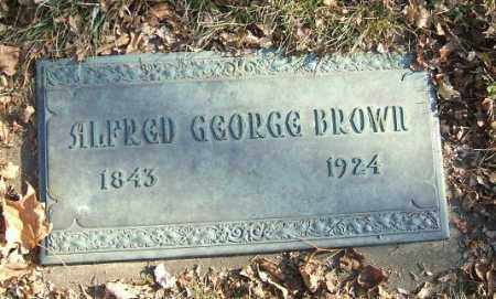 BROWN, ALFRED GEORGE - Minnehaha County, South Dakota | ALFRED GEORGE BROWN - South Dakota Gravestone Photos