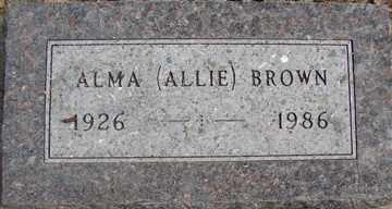 BROWN, ALMA (ALLIE) - Minnehaha County, South Dakota | ALMA (ALLIE) BROWN - South Dakota Gravestone Photos