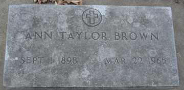 BROWN, ANN - Minnehaha County, South Dakota | ANN BROWN - South Dakota Gravestone Photos