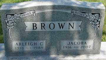 BROWN, ARLEIGH C. - Minnehaha County, South Dakota | ARLEIGH C. BROWN - South Dakota Gravestone Photos