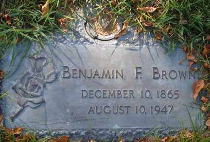 BROWN, BENJAMIN F. - Minnehaha County, South Dakota | BENJAMIN F. BROWN - South Dakota Gravestone Photos