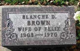 BROWN, BLANCHE D. - Minnehaha County, South Dakota   BLANCHE D. BROWN - South Dakota Gravestone Photos