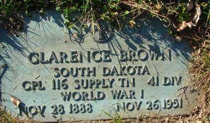 BROWN, CLARENCE - Minnehaha County, South Dakota   CLARENCE BROWN - South Dakota Gravestone Photos