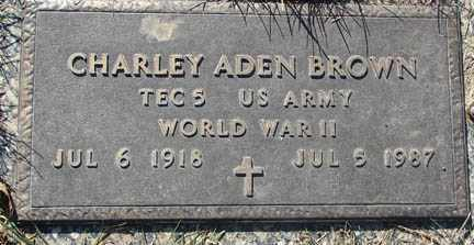 BROWN, CHARLEY ADEN - Minnehaha County, South Dakota | CHARLEY ADEN BROWN - South Dakota Gravestone Photos