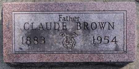 BROWN, CLAUDE - Minnehaha County, South Dakota | CLAUDE BROWN - South Dakota Gravestone Photos