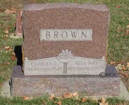 BROWN, CHARLEY L. - Minnehaha County, South Dakota | CHARLEY L. BROWN - South Dakota Gravestone Photos