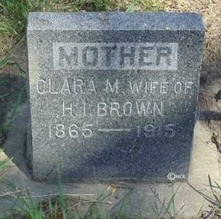 BROWN, CLARA M. - Minnehaha County, South Dakota | CLARA M. BROWN - South Dakota Gravestone Photos