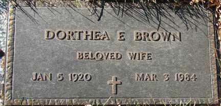 BROWN, DORTHEA E. - Minnehaha County, South Dakota | DORTHEA E. BROWN - South Dakota Gravestone Photos