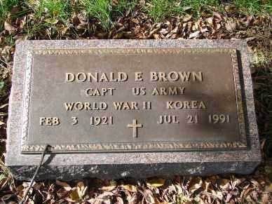 BROWN, DONALD E. - Minnehaha County, South Dakota | DONALD E. BROWN - South Dakota Gravestone Photos