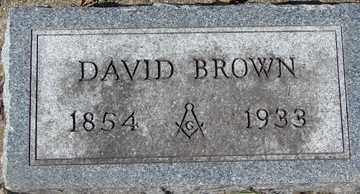 BROWN, DAVID - Minnehaha County, South Dakota | DAVID BROWN - South Dakota Gravestone Photos