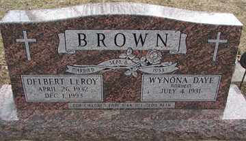 BROWN, DELBERT LEROY - Minnehaha County, South Dakota   DELBERT LEROY BROWN - South Dakota Gravestone Photos