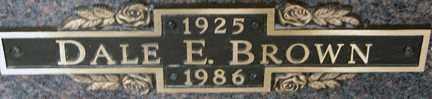 BROWN, DALE E. - Minnehaha County, South Dakota | DALE E. BROWN - South Dakota Gravestone Photos