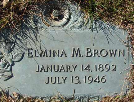 BROWN, ELMINA M. - Minnehaha County, South Dakota | ELMINA M. BROWN - South Dakota Gravestone Photos