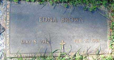 BROWN, EDNA - Minnehaha County, South Dakota | EDNA BROWN - South Dakota Gravestone Photos