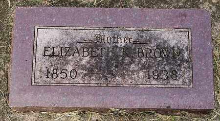 BROWN, ELIZABETH K - Minnehaha County, South Dakota | ELIZABETH K BROWN - South Dakota Gravestone Photos