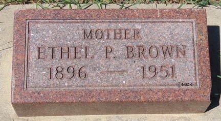 BROWN, ETHEL P. - Minnehaha County, South Dakota | ETHEL P. BROWN - South Dakota Gravestone Photos