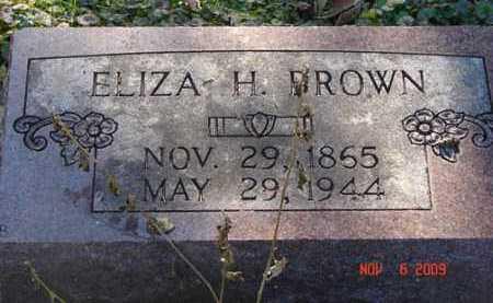 BROWN, ELIZA H. - Minnehaha County, South Dakota | ELIZA H. BROWN - South Dakota Gravestone Photos