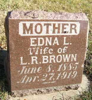 BROWN, EDNA L. - Minnehaha County, South Dakota | EDNA L. BROWN - South Dakota Gravestone Photos