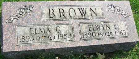 BROWN, ELMA G. - Minnehaha County, South Dakota | ELMA G. BROWN - South Dakota Gravestone Photos