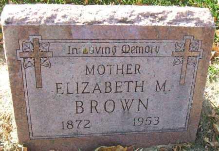 BROWN, ELIZABETH M. - Minnehaha County, South Dakota   ELIZABETH M. BROWN - South Dakota Gravestone Photos
