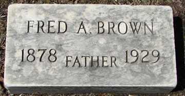 BROWN, FRED A. - Minnehaha County, South Dakota   FRED A. BROWN - South Dakota Gravestone Photos