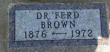 BROWN, FERD - Minnehaha County, South Dakota   FERD BROWN - South Dakota Gravestone Photos