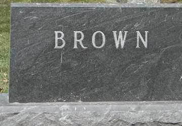 BROWN, FAMILY MARKER - Minnehaha County, South Dakota | FAMILY MARKER BROWN - South Dakota Gravestone Photos