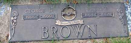 BROWN, GEORGE D. - Minnehaha County, South Dakota | GEORGE D. BROWN - South Dakota Gravestone Photos