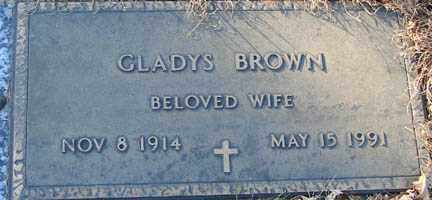 BROWN, GLADYS - Minnehaha County, South Dakota | GLADYS BROWN - South Dakota Gravestone Photos