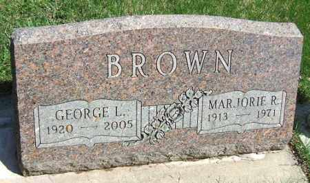 BROWN, MARJORIE R. - Minnehaha County, South Dakota   MARJORIE R. BROWN - South Dakota Gravestone Photos
