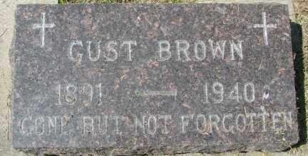 BROWN, GUST - Minnehaha County, South Dakota | GUST BROWN - South Dakota Gravestone Photos
