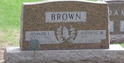 BROWN, JOSEPHINE M. - Minnehaha County, South Dakota | JOSEPHINE M. BROWN - South Dakota Gravestone Photos
