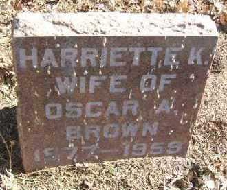 BROWN, HARRIETTE K. - Minnehaha County, South Dakota | HARRIETTE K. BROWN - South Dakota Gravestone Photos