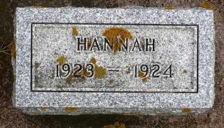 BROWN, HANNAH - Minnehaha County, South Dakota | HANNAH BROWN - South Dakota Gravestone Photos