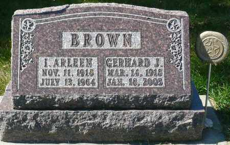 BROWN, INEZ ARLEEN - Minnehaha County, South Dakota | INEZ ARLEEN BROWN - South Dakota Gravestone Photos