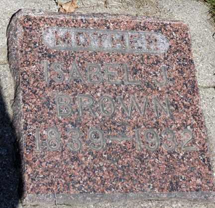 BROWN, ISABEL J. - Minnehaha County, South Dakota | ISABEL J. BROWN - South Dakota Gravestone Photos