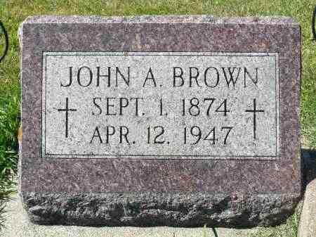 BROWN, JOHN A. - Minnehaha County, South Dakota   JOHN A. BROWN - South Dakota Gravestone Photos